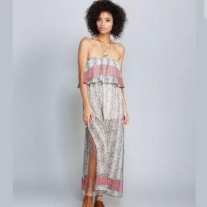 Dresses & Skirts - Strapless Bohemian Maxi Dress